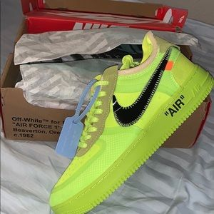 Off white x Nike Air Force ones (volts)